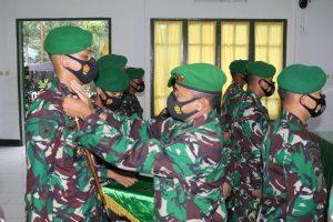 Komandan Batalyon Infanteri 731/Kabaresi Pimpin Acara Sertijab Komandan Kompi dan Perwira Staf