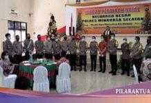 Keluarga Besar Polres Minsel Laksanakan Ibadah Natal Terapkan Protokol Kesehatan