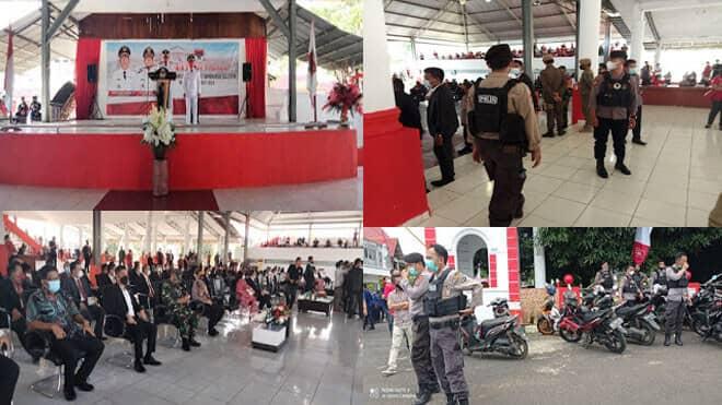 220 Personel Gabungan TNI-Polri Laksanakan Pengamanan Syukuran Pelantikan Bupati dan Wakil Bupati Minsel