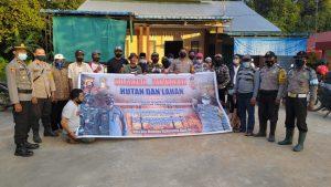 Kapolsek Sungai Kakap Sosialisasi Tata Cara Pencegahan dan Penanggulangan Karhutla