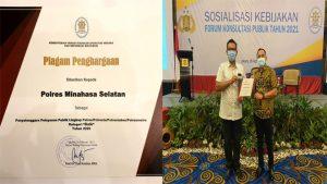 Pelayanan Publik Terbaik, Polres Minsel Terima Penghargaan KemenpanRB