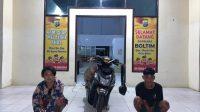 Polres Boltim Amankan Dua Tersangka DPO Pelaku Curanmor