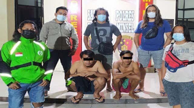 Tim Resmob Polres Minsel Amankan Dua Pelaku Tindak Kekerasan di Tatapaan