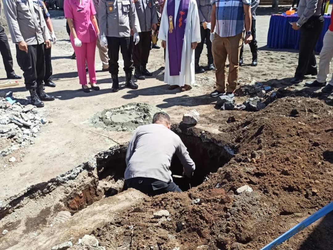 Polres Minsel Laksanakan Peletakan Batu Pertama Pembangunan Kapel