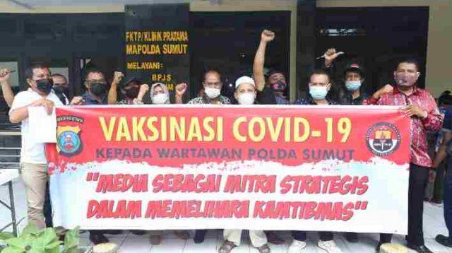 Polda Sumut Gelar Vaksinasi Covid-19 Kepada Wartawan