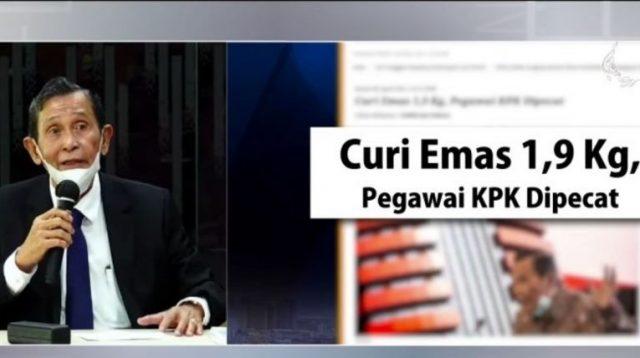 Terbukti Mencuri Emas 1,9 Kg, Pegawai KPK Dipecat