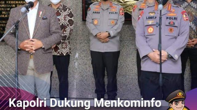 Kapolri Dukung Menkominfo Bangun Infrastruktur TIK di Seluruh Indonesia